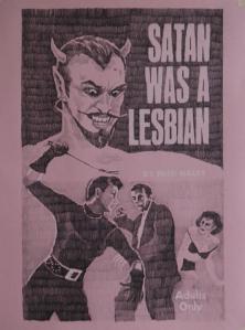 satan was a lesbian - drawing